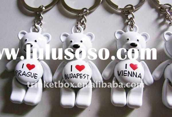2011 hot sell bear keychain,Reddy bear metal keychain