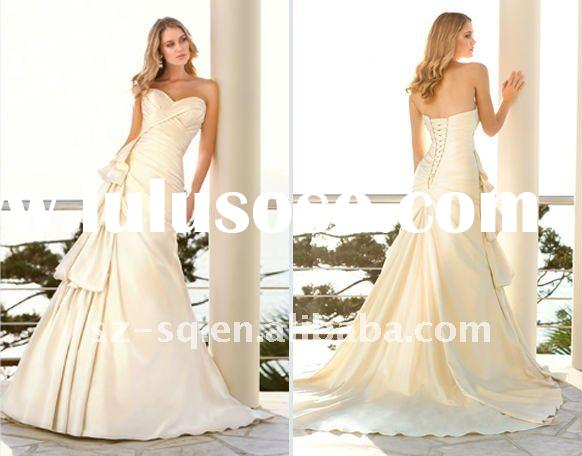 Classical Trailing  Ruffle Sweetheart A-Line Wedding Dresses