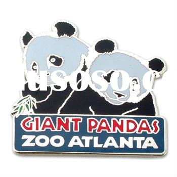 Custom Soft Cloisonne panda lapel pin
