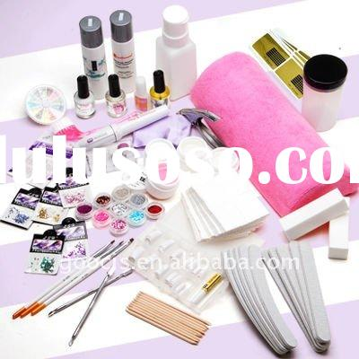 UV GEL False Nail Tips Glitter Nail Set