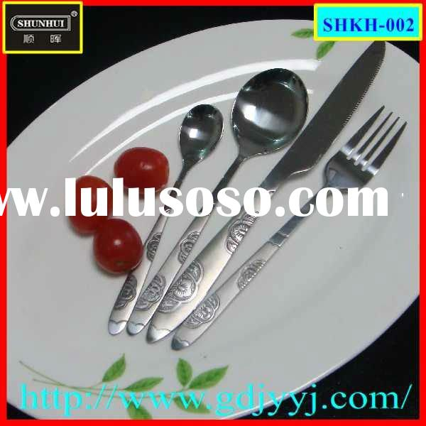 stainless steel cutlery set for family