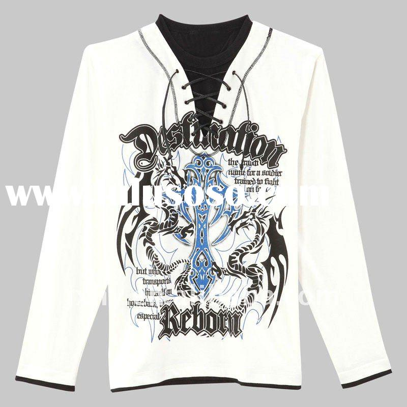 Europe and the United States fashion long-sleeved T-shirt