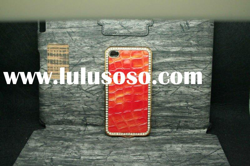 leather case for iphone 4g,diamond case for phone,