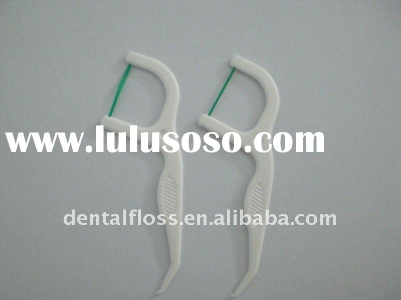 mint waxed colored dental flosser