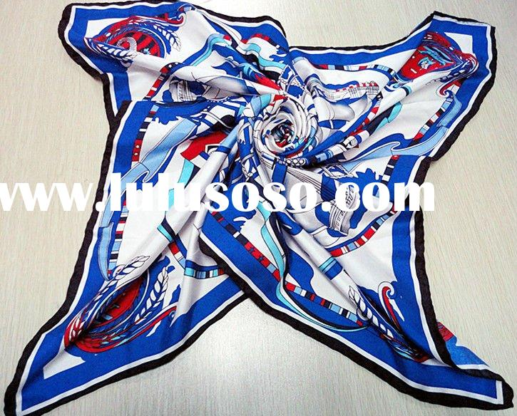 2011 fashion printed silk scarf