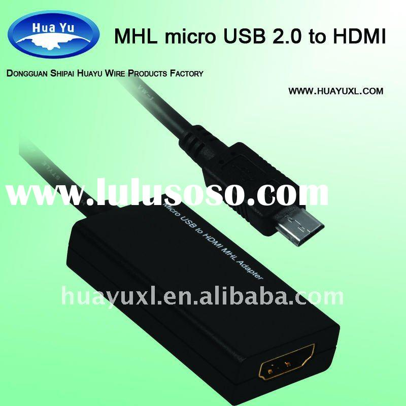 Micro USB to HDMI cable MHL adapter for smartphones