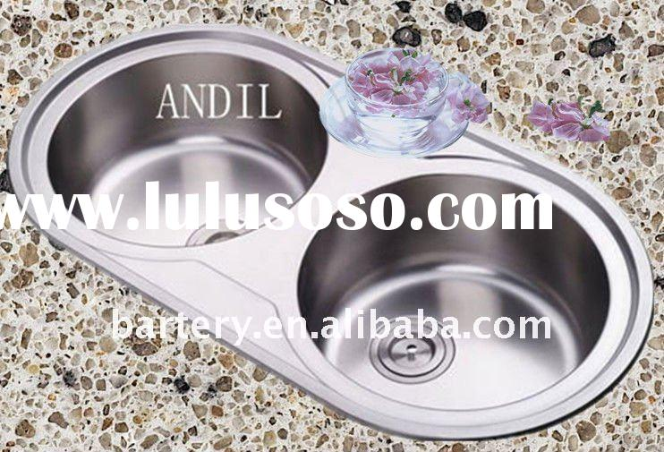 #H9148B Stainless steel double bowl kitchen sink for sale