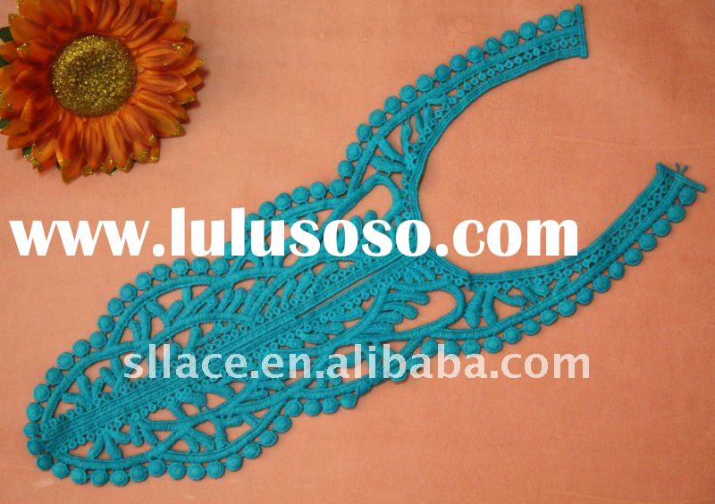 embroidery cotton crochet african lace collar