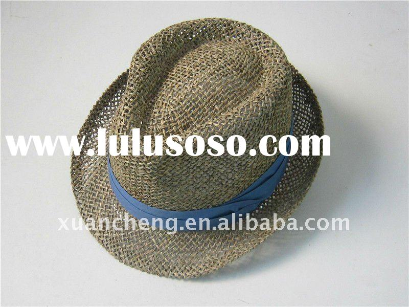 Straw Fedora Hat For Men Mens Seagrass Straw Fedora Hat