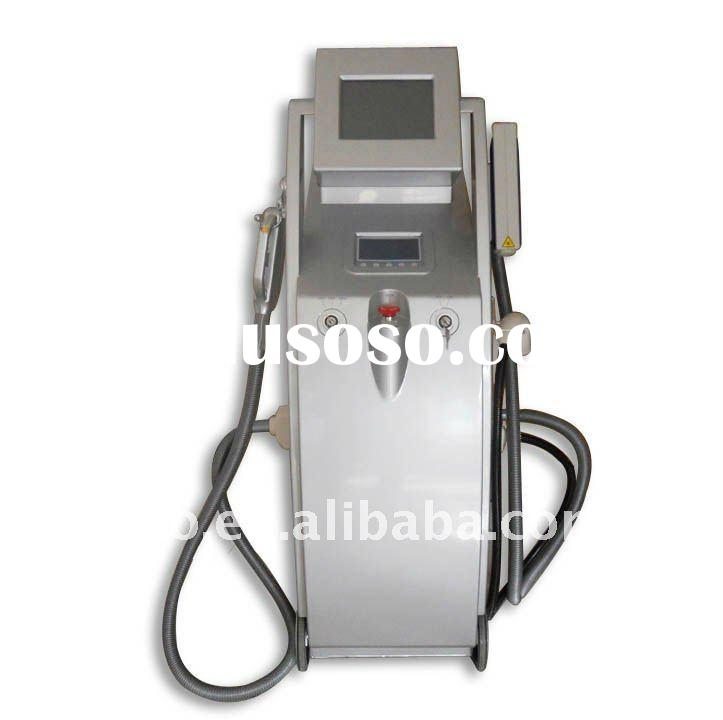 muily-function machine /IPL+RF+Laser  for hair removal and skin rejuvenation CE FDA approved