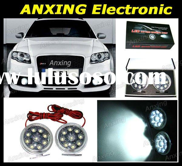 Super bright Xenon white 9-LED High power auto led daytime running lights