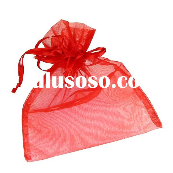 Sweet drawstring red jewelry Pouches
