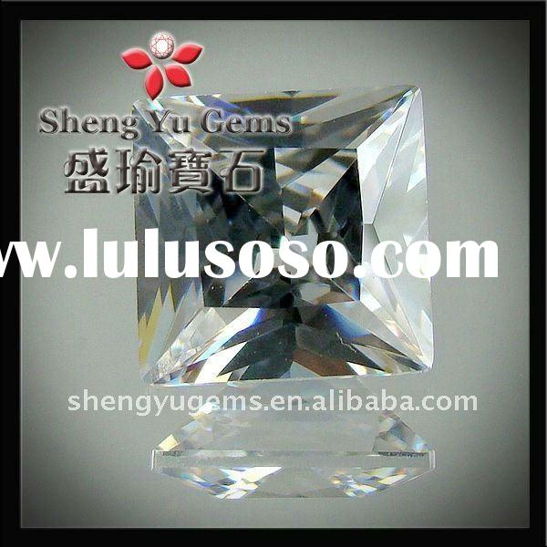 right angle pricess cut,square-shaped,white cz /cubic zirconia, gemstone