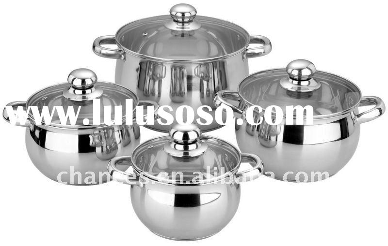 8Pcs Stainless Steel Cooking Set