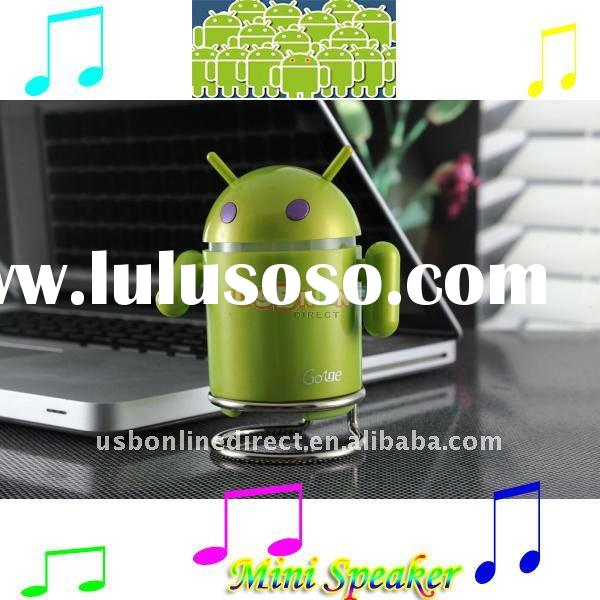 Google Android Robot portable USB mini speaker for lmobile tablet pc mid support TF card FM