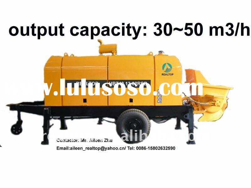 Stationary (trailer) concrete pumps HBT40 with Rexroth main oil pump Deutz (Cummins) diesel engine o