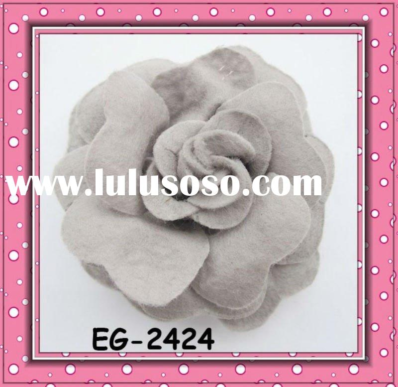 fashion camellia flower handmade hairbands/brooch/hairpins design hair accessories EG-2424