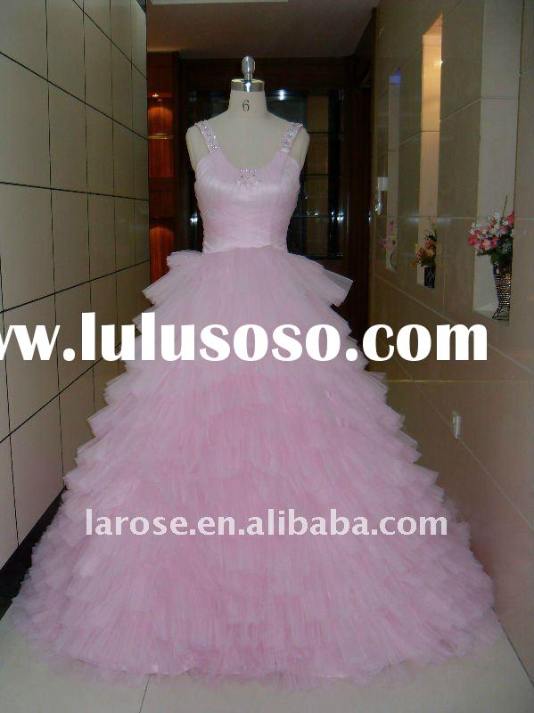 hot pink wedding dress 2011 hot sale and beautiful wedding dress 2011 model EMG002
