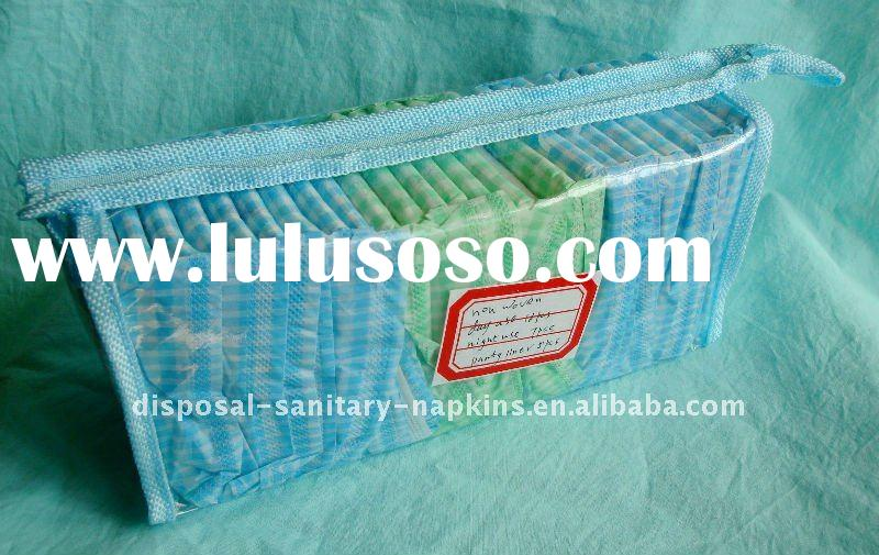sanitary pads in zipper bags