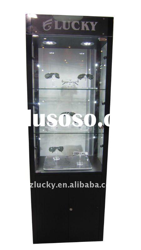 sunglass  senior glass display cabinet with LED shot light