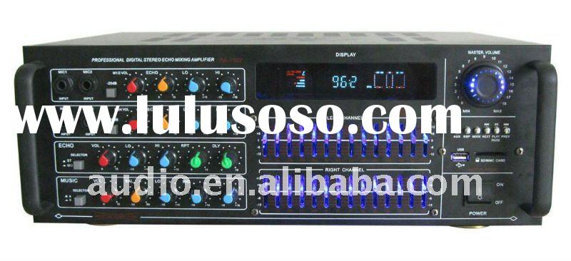 karaoke power amplifier with USB/SD/FM/EQ and remote control