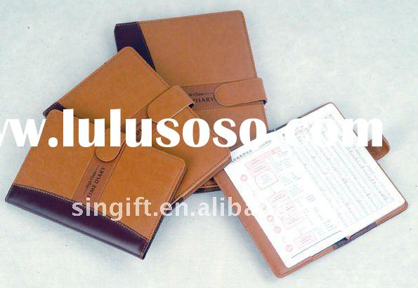 leather cover diary notebook with  pen