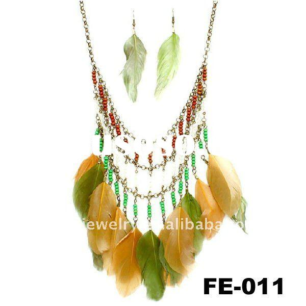 Fashion Jewelry Necklaces on Fashion Jewelry  Feather Necklace  Unique Necklace
