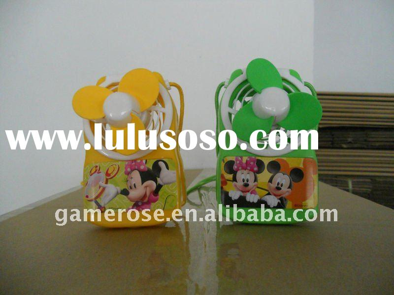 Lovely Cartoon Battery Operated Mini Handy Ffan for Promotional Gift