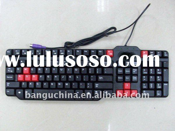 hot selling good quality and low price wired usb or ps/2 multimedia keyboard