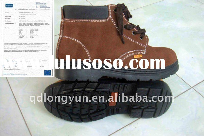 steel toe/pu/anti-skidding/100%cow lesther/industrial safety footwear/safety shoes/safety boots