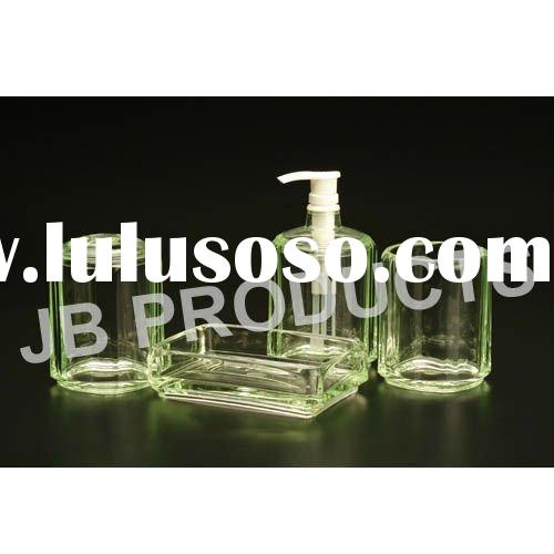 Acrylic 4pcs Hotel Bathroom Accessory Set