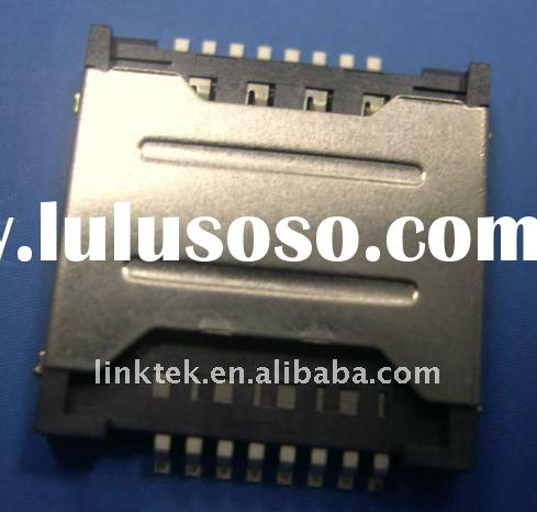 Mobile phone push sim card Connector 2IN1