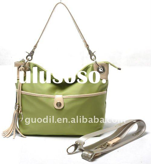 New Arrival! 2012 $19 to $24 Nylon with Leather ladies handbags in good selling