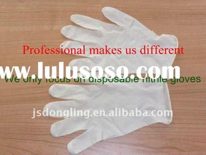 disposable nitrile gloves 4 mil powder free