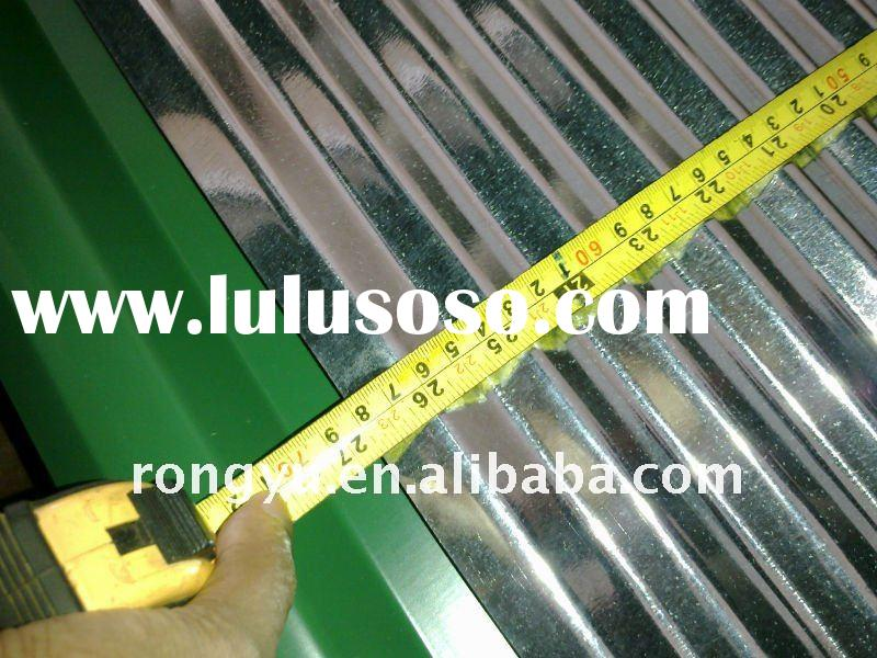 Hot-dipped galvanized corrugated steel sheet for roofing thickness 0.15-1.5mm