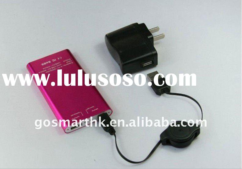 2000mAh Licensed Colorful External Battery Charger for Iphone, Nokia,cellphone, PSP,PDA,MP3 MP4, DC,
