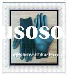 Industrial working glove / PU gloves / 15G black nylon with black pu coating pu gloves/ Safety / wor