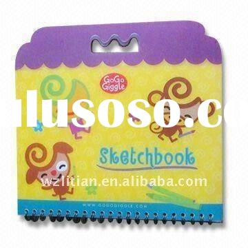 PP Cover Notebook with pink spiral notebook printing for Kids, Customized Designs and Sizes are Acce