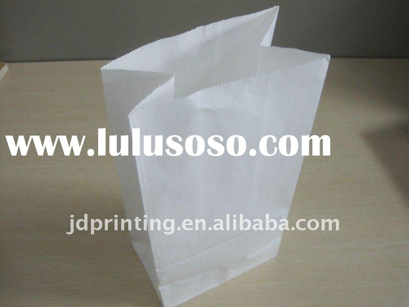 white kraft paper bag for package bread,food bag