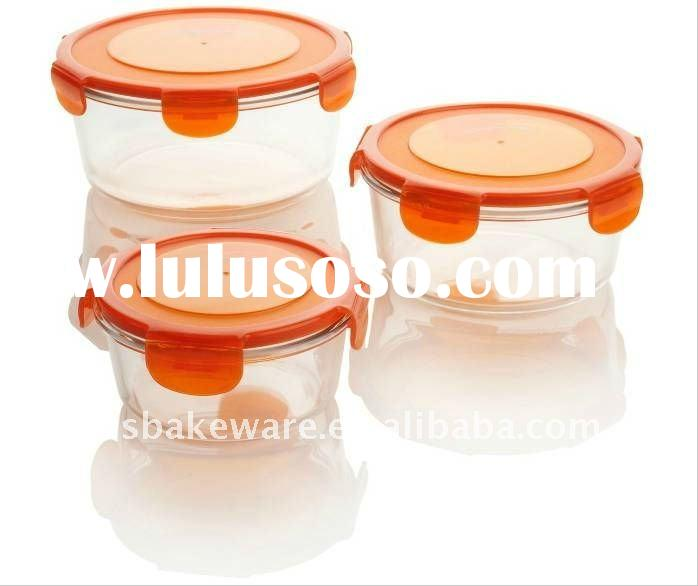 1600ml,900ml,450ml, Round glass food container, Airtight food Container