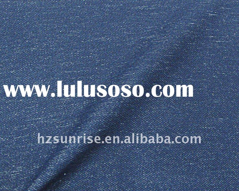CVC knitted denim spandex fabric