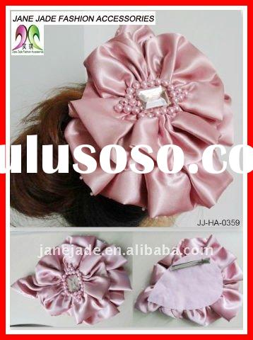 Fashion Satin Flower Hairclip, Hair Accessories,Brooch