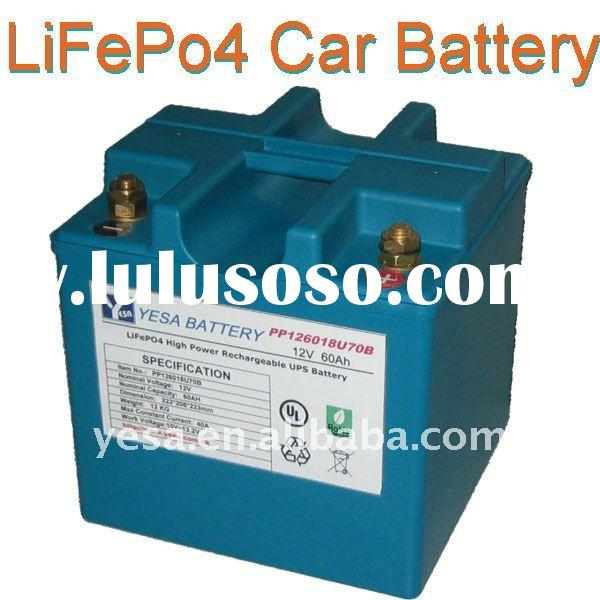 LiFePO4 Battery Pack for auto battery car battery 12V/60AH 24V/30AH