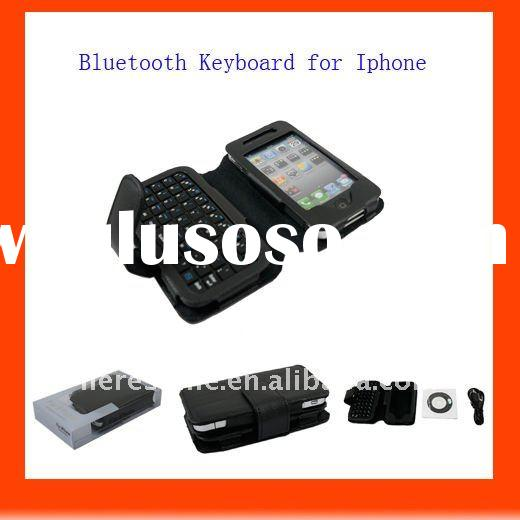 Multimedia wireless keyboard with leather case for Iphone