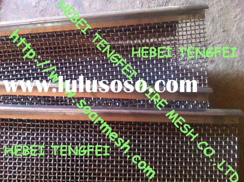 Woven Vibration Screen with hooks ( 316 stainless steel wire)