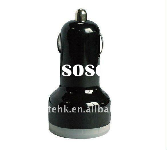 Dual USB car charger for iPad/iPhone/Galaxy Tab