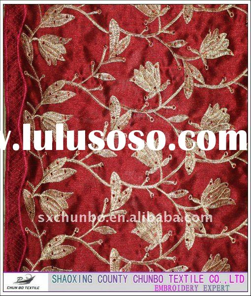 For wedding dress cloths handwork embroidery fabric