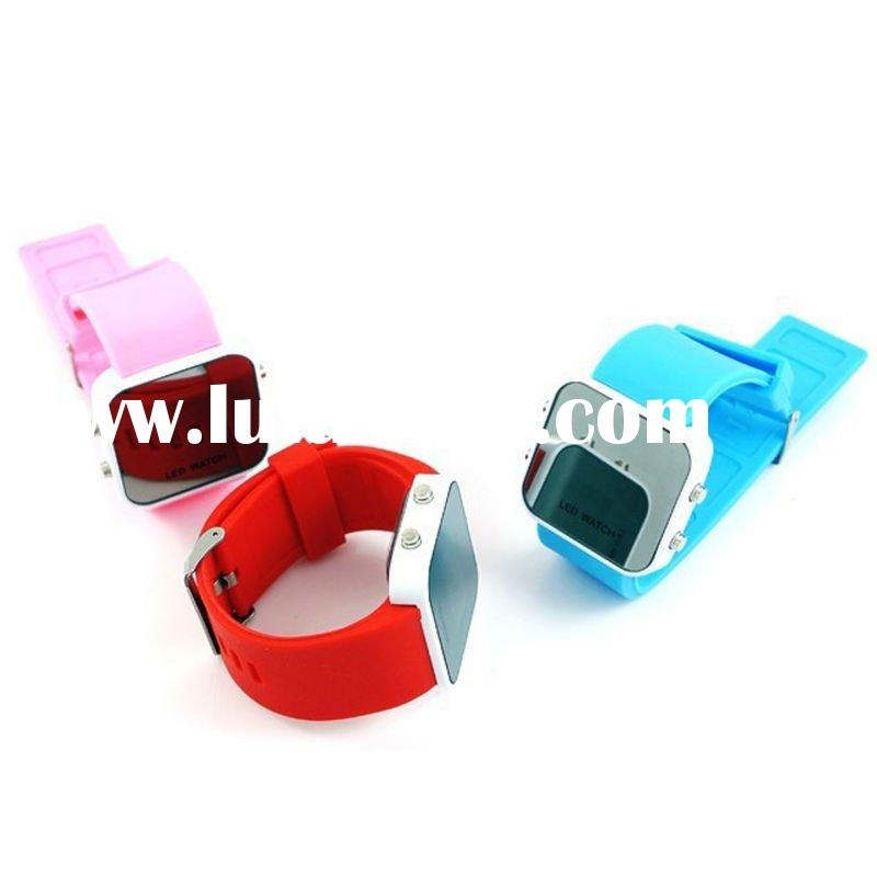 Silicone Watch/LED Silicone Watch/Mirror Silicone Watch