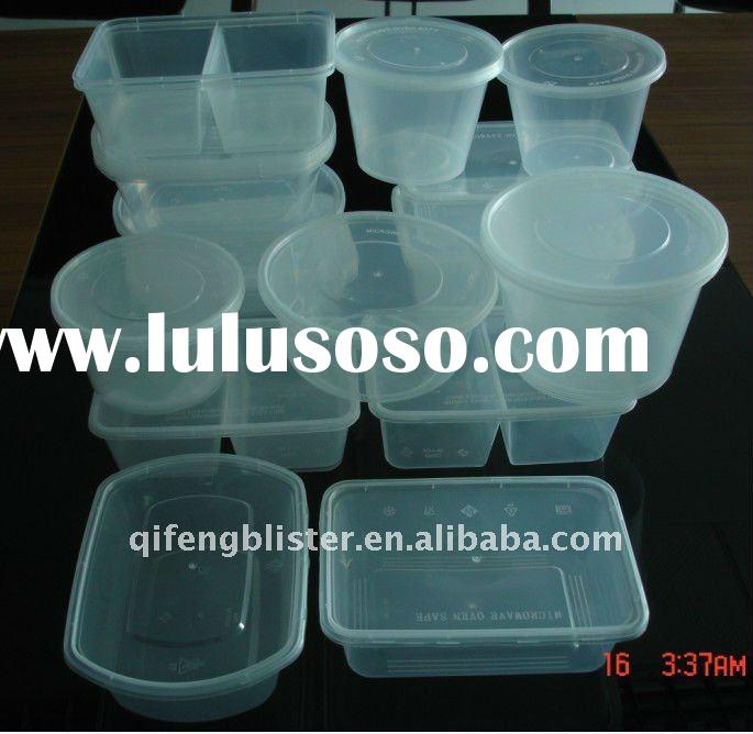 Disposable microwave plastic takeaway round and rectangular plastic food container box and bowl,lunc