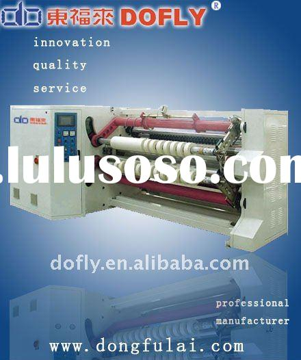 High efficiency adhesive tape slitting machine
